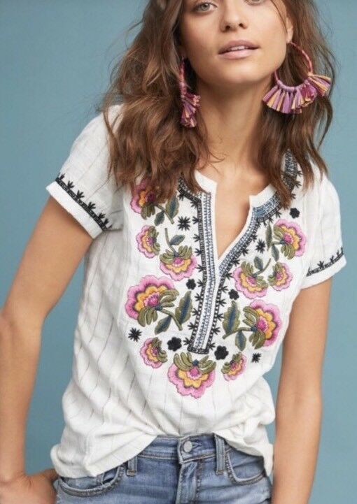 Anthropologie Embroirderot Top. Größe XS. NWT. Retail-