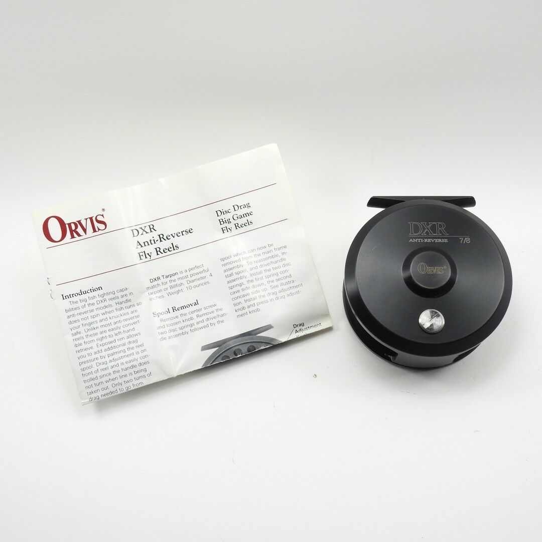 Orvis DXR Anti-Reverse  7 8 Fly Fishing Reel. W  Manual.  with 60% off discount