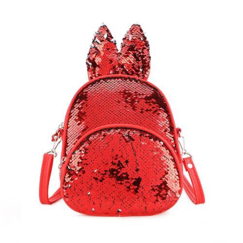 Cute Sequin Rabbit Ear Shoulder Handbags Backpacks Kids Girls Crossbody Bag
