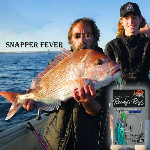 4x Snapper rigs 5//0 Hook  Paternoster ultra Fishing Rig Bait Reedy/'s Midnight