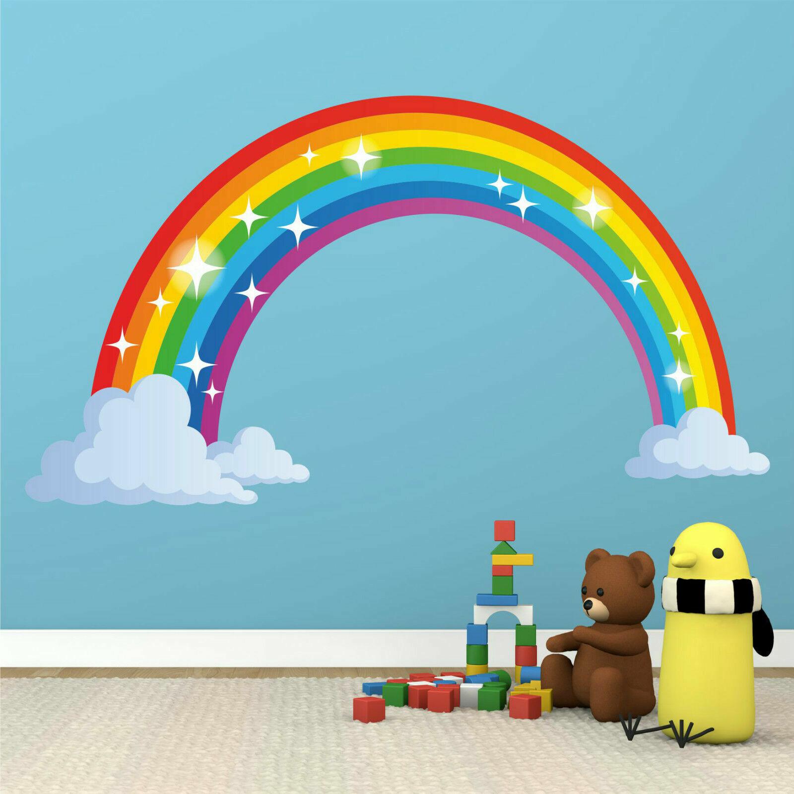 Rainbow Wall Stickers Kids Child Bedroom Nursery Decals Home Decor Stylis BJvt
