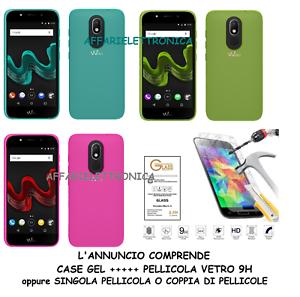 Custodia-per-WIKO-WIM-LITE-5-0-Cover-GEL-TPU-gomma-PELLICOLA-vetro-TEMPERATO