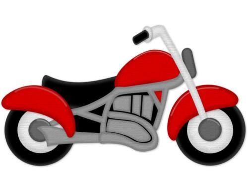 Harley Bike Motorcycle Die Cut Scrapbook Embellishment 3-D or Flat Piecing