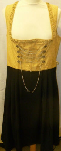 Femmes costumes robe taille 40 teinte jaune d/'or noir polyester nockstein costumes