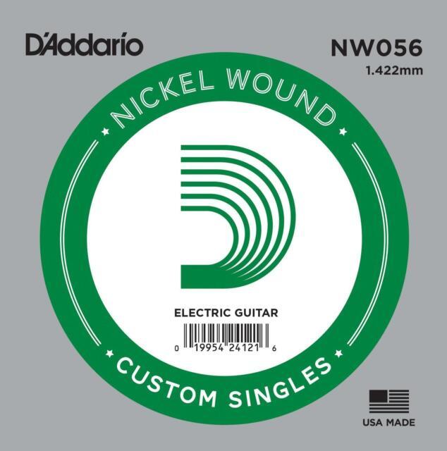 D'Addario NW056 Nickel Wound Electric Guitar Single String, .056