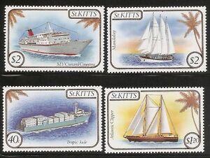 St-Kitts-SC-165-168-Ships-Complete-Set-MNH