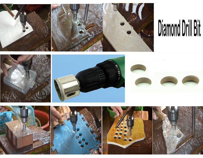 10 Pcs 4-22mm Diamond Drill Bits Set Hole Saw Cutter Tool Glass Marble Ceramic@