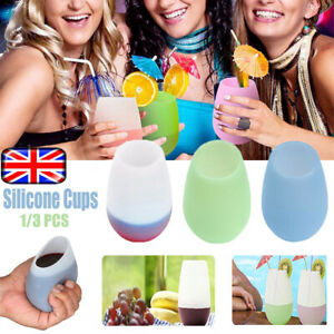 Foldable-Silicone-Wine-Glass-Cup-Unbreakable-Cup-Outdoor-Travel-Camping-Cups-UK