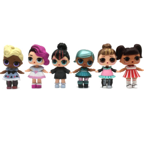 Random 3Pcs Baby Kids Under Wraps Glam Glitter Confetti Pop Dolls Xmas Gift