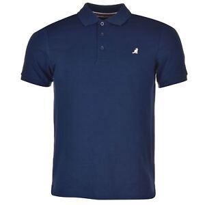 Kangol-Brit-Fit-Polo-Shirt-Mens-Navy-Collared-T-Shirt-Top-Tee