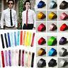 GT Casual Slim Plain Mens Solid Skinny Neck Party wedding Tie Necktie 8 Colors