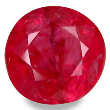 0.70Cts UNHEATED RUBY BLOOD RED NATURAL RUBY CORUNDUM ROUND GEMSTONES MOZAMBIQUE