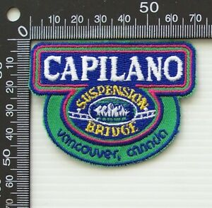 VINTAGE CAPILANO VANCOUVER CANADA EMBROIDERED SOUVENIR WOVEN CLOTH SEW-ON BADGE