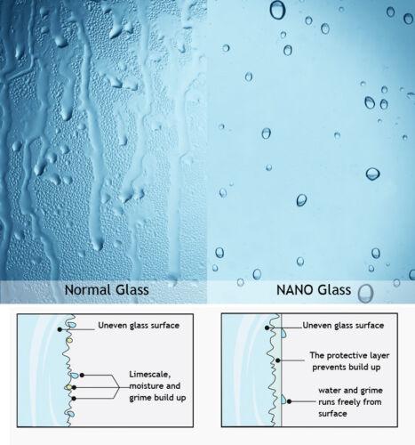 Nischentür Duschabtrennung Schwingtür Duschwand Dusche Nano Glas 70 x 197cm Z1