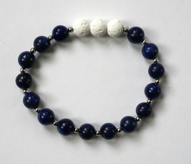 Aromatherapy Blue Bead Lava Stone Essential Oil Diffuser Bracelet
