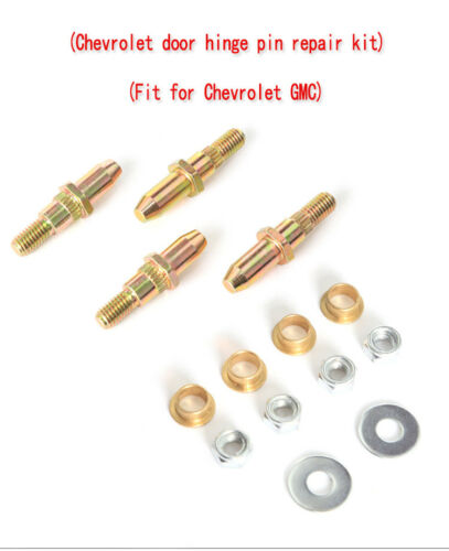 For Chevy GMC  Door Hinge Pin and Bushing Kits With Instructions Set of 2