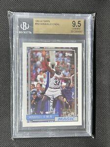 1992-93 Topps Shaquille O'Neal Shaq ROOKIE Card #362 RC BGS 9.5 Gem Mint #362📈