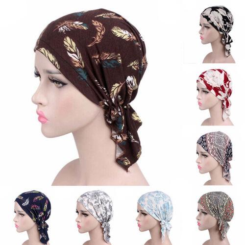 Frauen muslimischen Turban Krebs Chemo Cap Stretch Wrap Beanie Kopftuch CoveCRH
