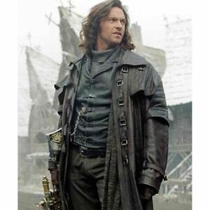 Mens Steampunk Gothic Faux Leather Trench Coat Punk Style Overcoat  Biker Jacket