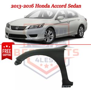 Front Fender Driver Side Primed Steel for 2013-2016 Honda Accord Sedan
