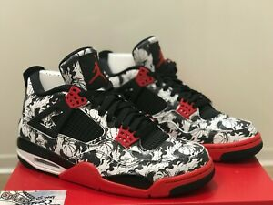 2872259d833 New Nike Air Jordan 4 IV Retro Tattoo Laser Bred Kaws OG XI III ...
