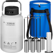 10 L Liquid Nitrogen Tank Cryogenic Dewar Container Aluminum Semen Tank Ln2