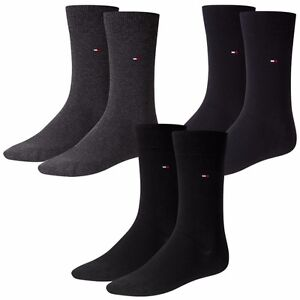 6 Paar TOMMY HILFIGER Classic Herren Socken Business 371111 schwarz