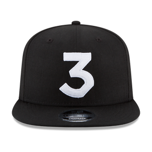 ON HAND! 100/% Authentic Black Chance The Rapper 3 New Era Cap Snapback Hat