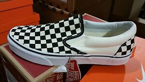 a36242c9ca2 Image is loading Vans-Slip-On-Checkerboard-Off-White-Black-Checkered-