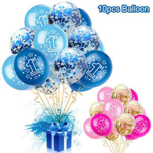 10pcs-Balloons-for-1st-Birthday-Party-Blue-Pink-Balloon-One-Year-Old-Boy-Girl