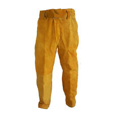 Welding Heat Insulation Protection Safety Leather Work Pants Work Long Trousers