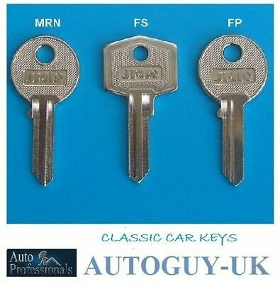 British Leyland Classic Car Keys Cut to Code FA,FP,FS,FV,MRA,MRN,RM,VM keys