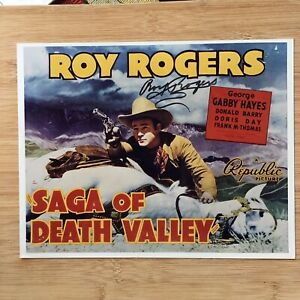 ROY ROGERS Authentic Hand Signed Autographed Death Valley Photo - UNIQUE