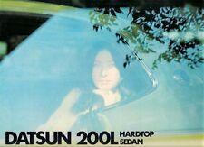 Datsun Nissan Laurel 200L 1975 Dutch Market Sales Brochure Saloon Hardtop