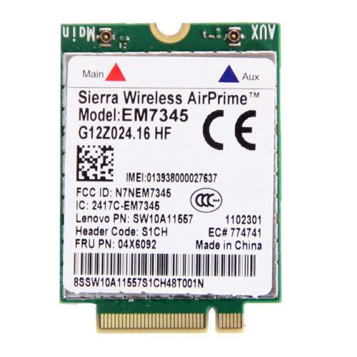Thinkpad GOBI5000 EM7345 LTE 04X6092 T440 X240 WWAN HSPA 42Mbps 4G Module NGFF