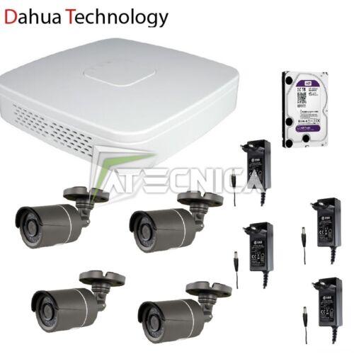 Kit 4 telecamere videosorveglianza HD con tecnologia DAHUA DVR 4 canali 2Mpx