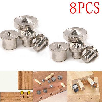 8Pcs Dowel Drill Centre Points Pin Wood 6mm 8mm 10mm 12mm Dowel Tenon Center Set