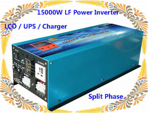 """Home & Garden 15000w Lf Split Phase 48vdc/110v,220v Ac 60hz Power Inverter 3.5""""lcd/ups/charger Making Things Convenient For The People"""