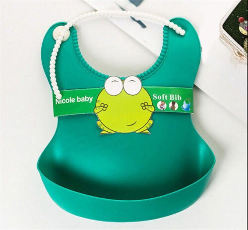 WatYHproof Silicone Bib Baby Infants Kids Bibs Feeding Lunch Roll-up Apron YH