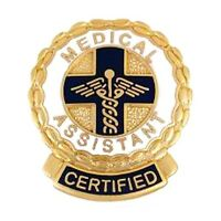 Certified Medical Assistant Lapel Pin Cma Caduceus Cross Medical Gold Plated