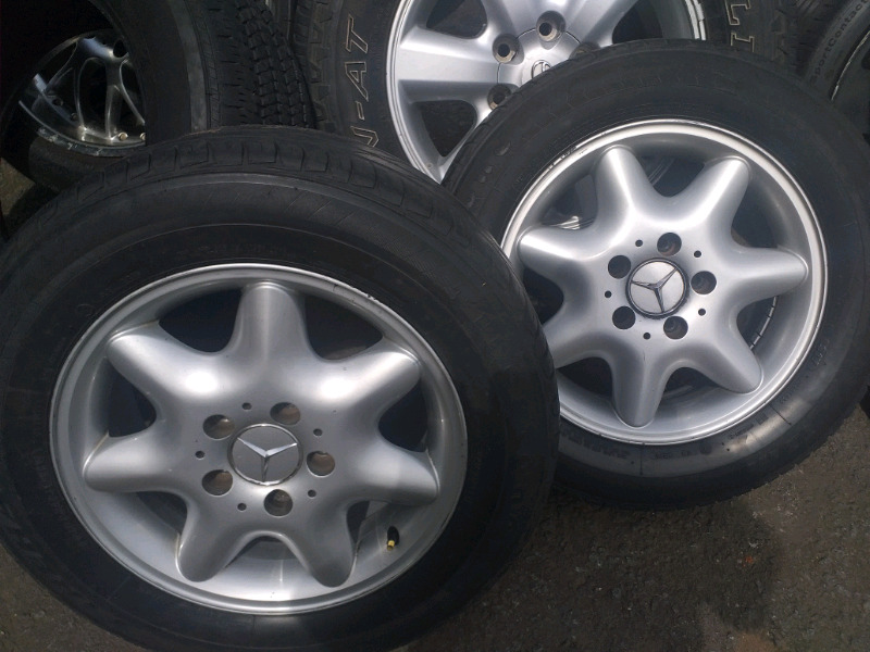 Mercedes Benz original alloy mags size 15+tyres used