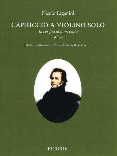 Capriccio In cor piu non mi sento M.S 44 Violin Solo String Solo Book 050601615