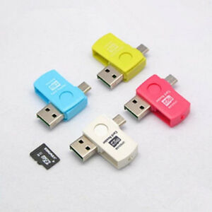 2 in 1 Micro USB 2.0 OTG Adapter + Micro SD TF Card Reader for Android Phone