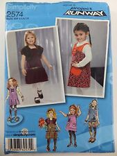 Simplicity Project Runway Toddler Childs Jumper 4 5 6 7 8  Sewing Pattern 2574