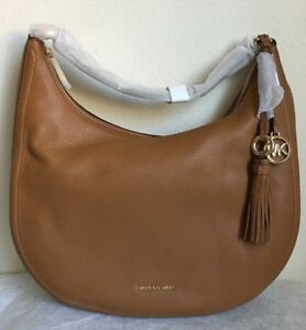 32193f7711287 NWT!! MICHAEL MICHAEL KORS Lydia Leather Shoulder Bag  298 in Acorn ...