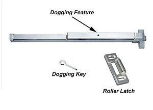 New Door Push Bar-Panic Exit Device Lock Emergency Hardware Latches Aluminum