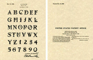 1938 REDDY KILOWATT FONT US PATENT Art Print READY TO FRAME Collins