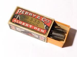 Antique Perry & Co's Albert Pen Nibs No. 335 Medium Assorted Nibs Original Box Empxdxfp-08004952-965087238