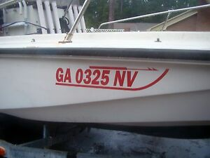 BOSTON WHALER Font Custom Boat Hull REGISTRATION NUMBERS Decals - Sporting boat decalsboston whaler decals ebay