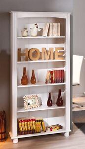 Libreria-in-legno-massello-bianco-87-x-180-cm
